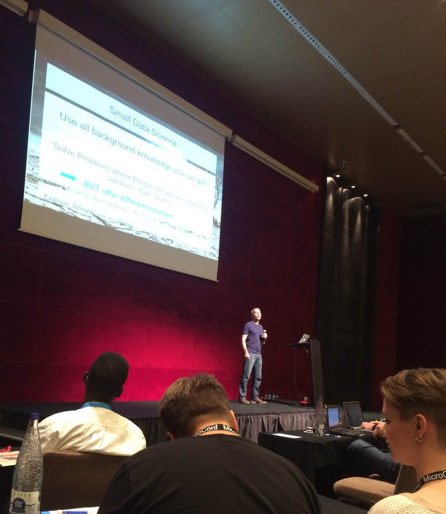 Small Data Science talk at Microconf Europe 2015